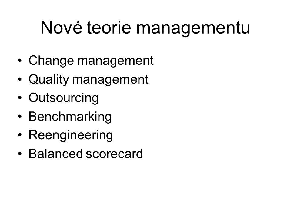Nové teorie managementu