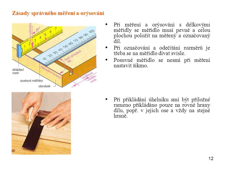 Zásady správného měření a orýsování