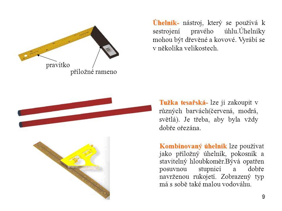 Úhelník- nástroj, který se používá k sestrojení pravého úhlu