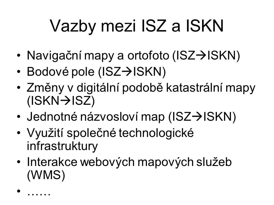 Vazby mezi ISZ a ISKN Navigační mapy a ortofoto (ISZISKN)