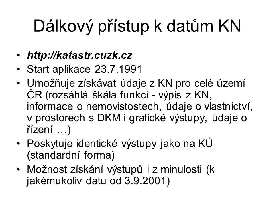 Dálkový přístup k datům KN