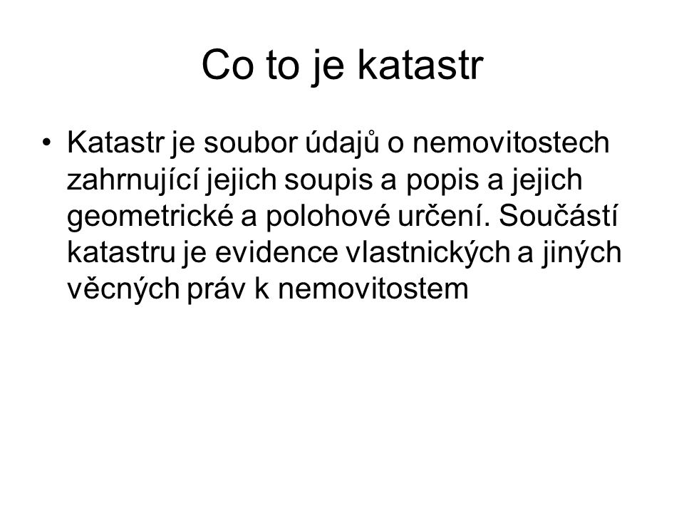Co to je katastr