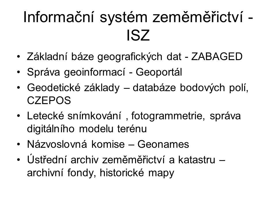 Informační systém zeměměřictví - ISZ