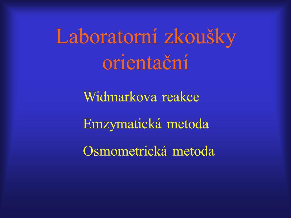 Laboratorní zkoušky orientační