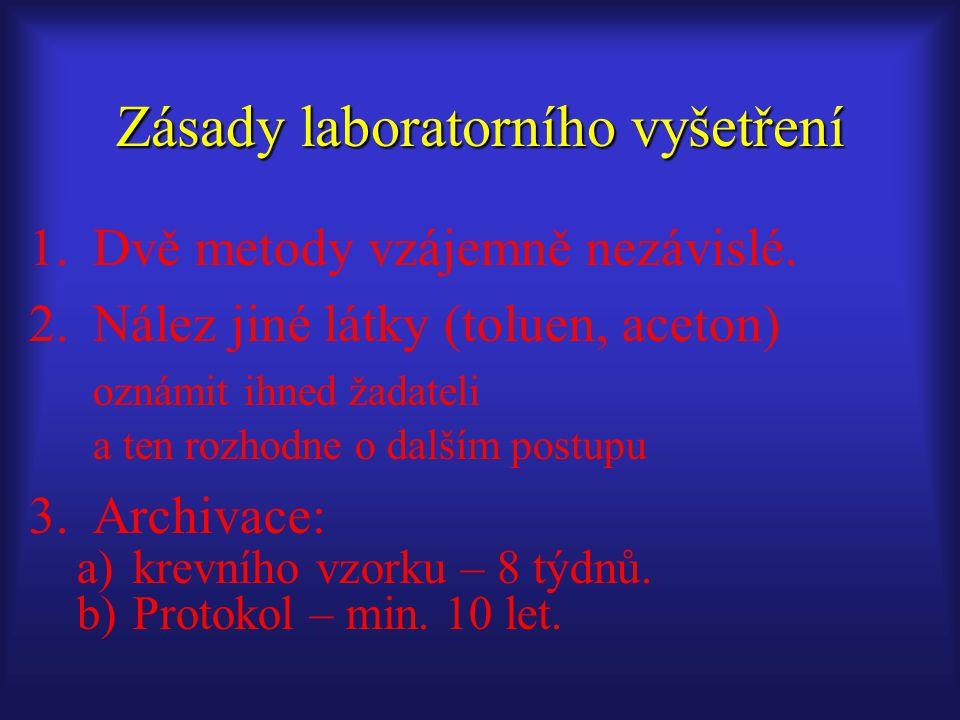 Zásady laboratorního vyšetření
