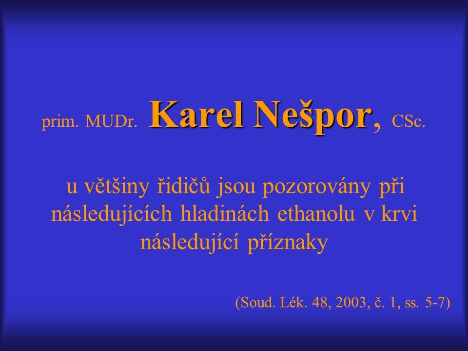 prim. MUDr. Karel Nešpor, CSc