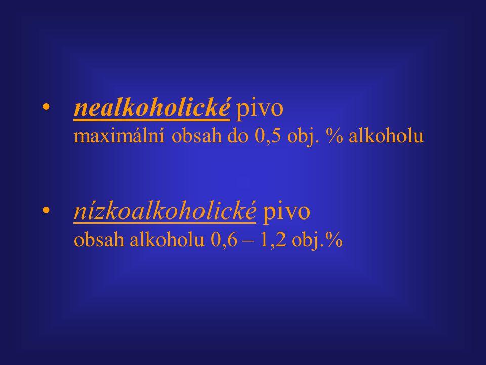 nealkoholické pivo maximální obsah do 0,5 obj. % alkoholu