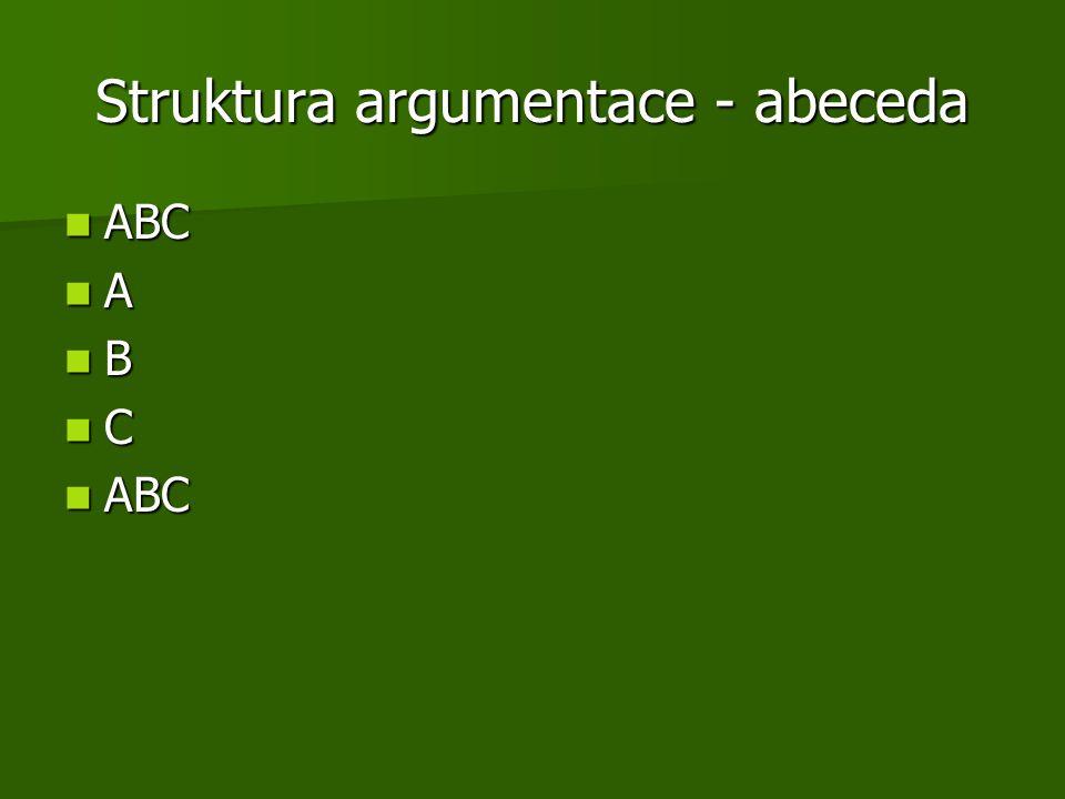 Struktura argumentace - abeceda