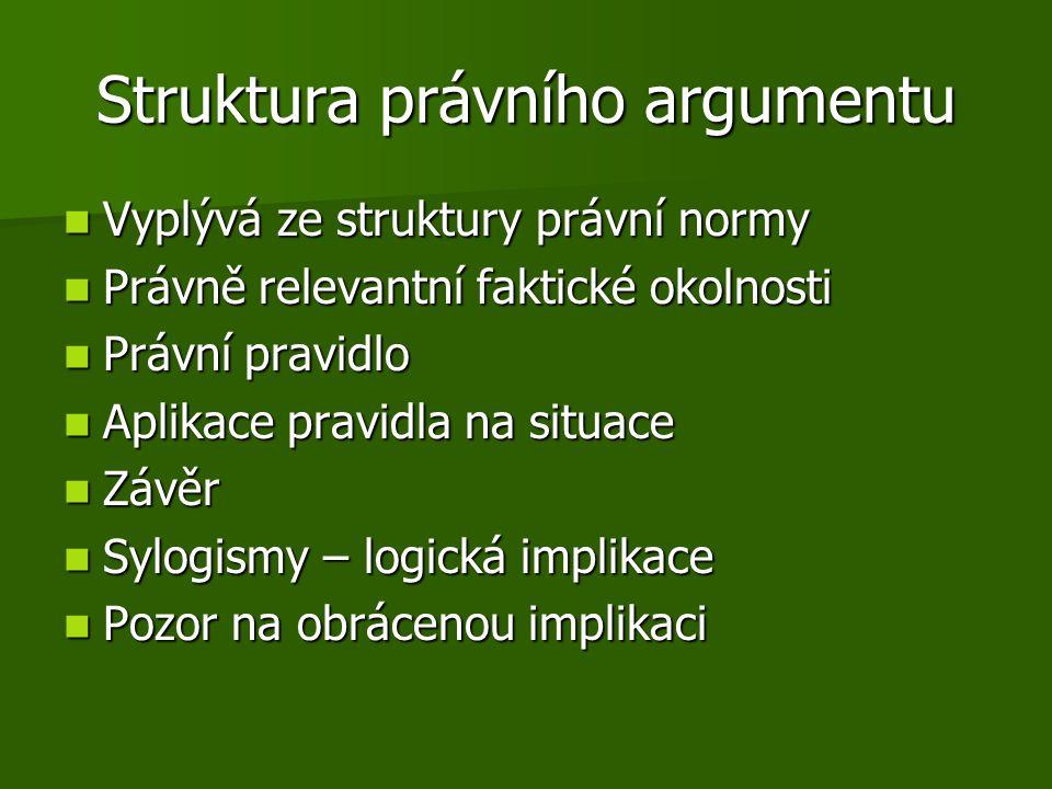 Struktura právního argumentu