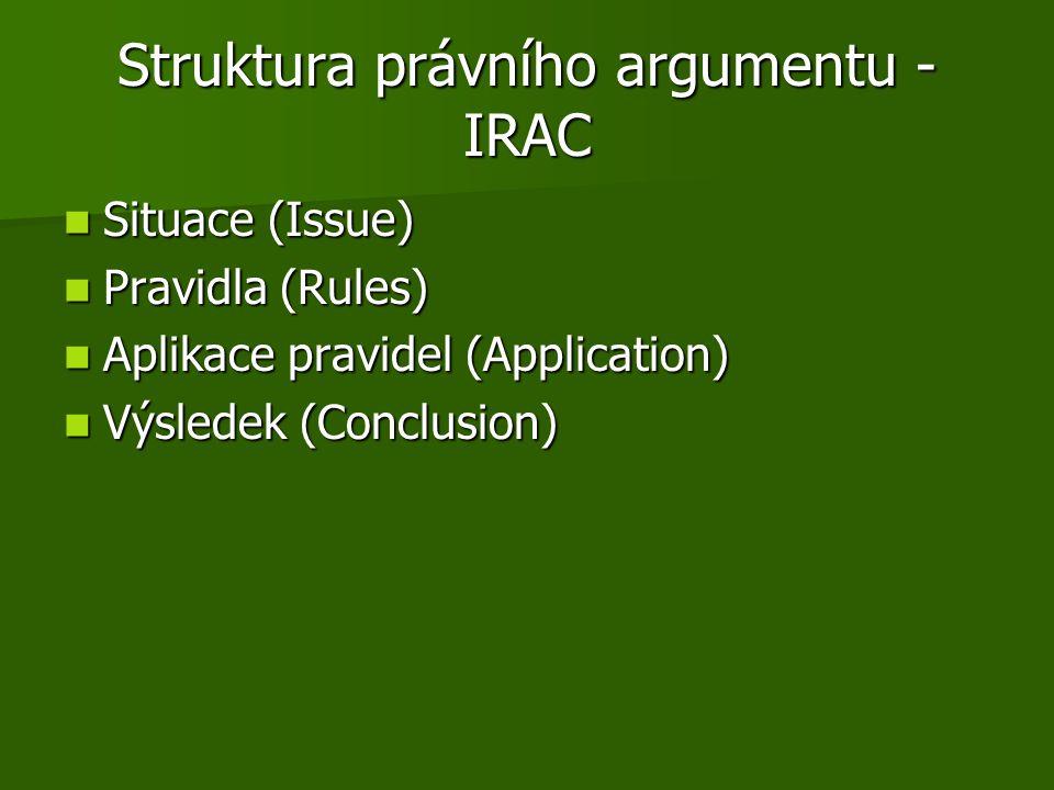 Struktura právního argumentu - IRAC