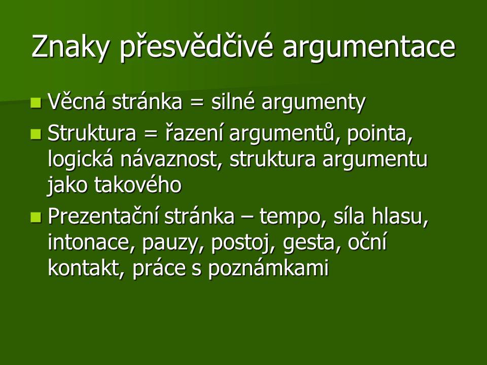 Znaky přesvědčivé argumentace