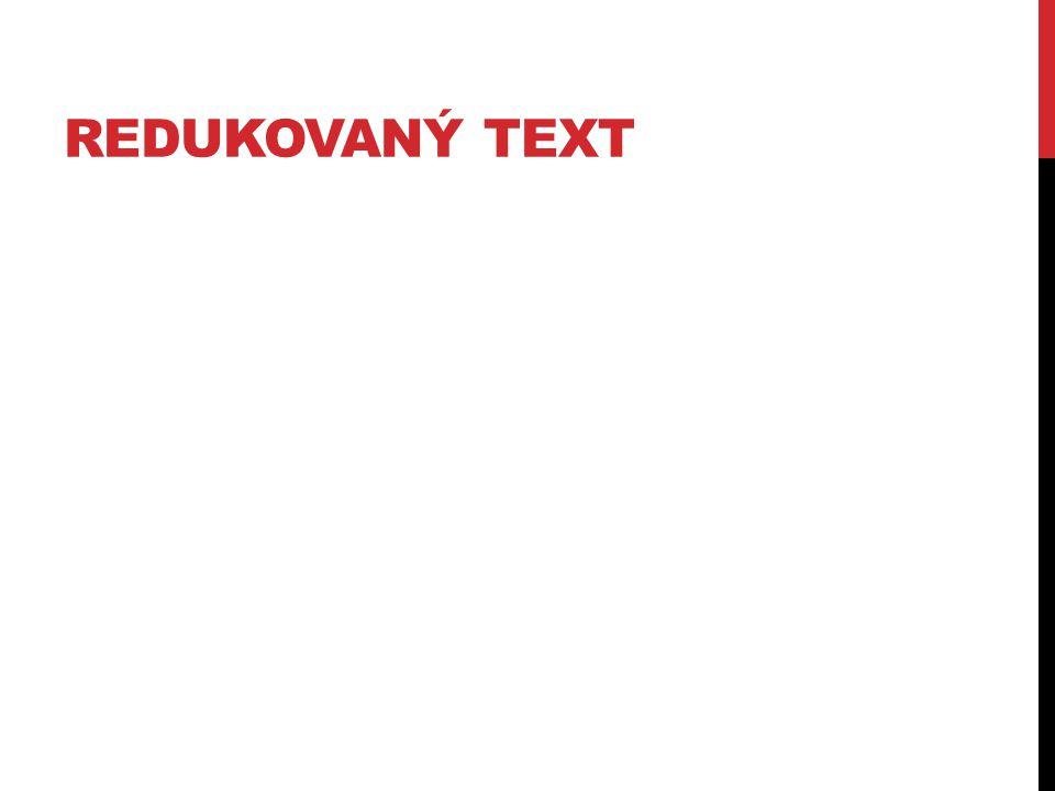 Redukovaný text