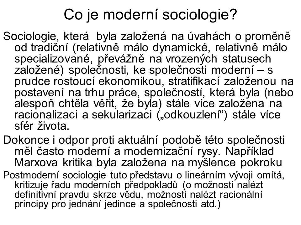 Co je moderní sociologie