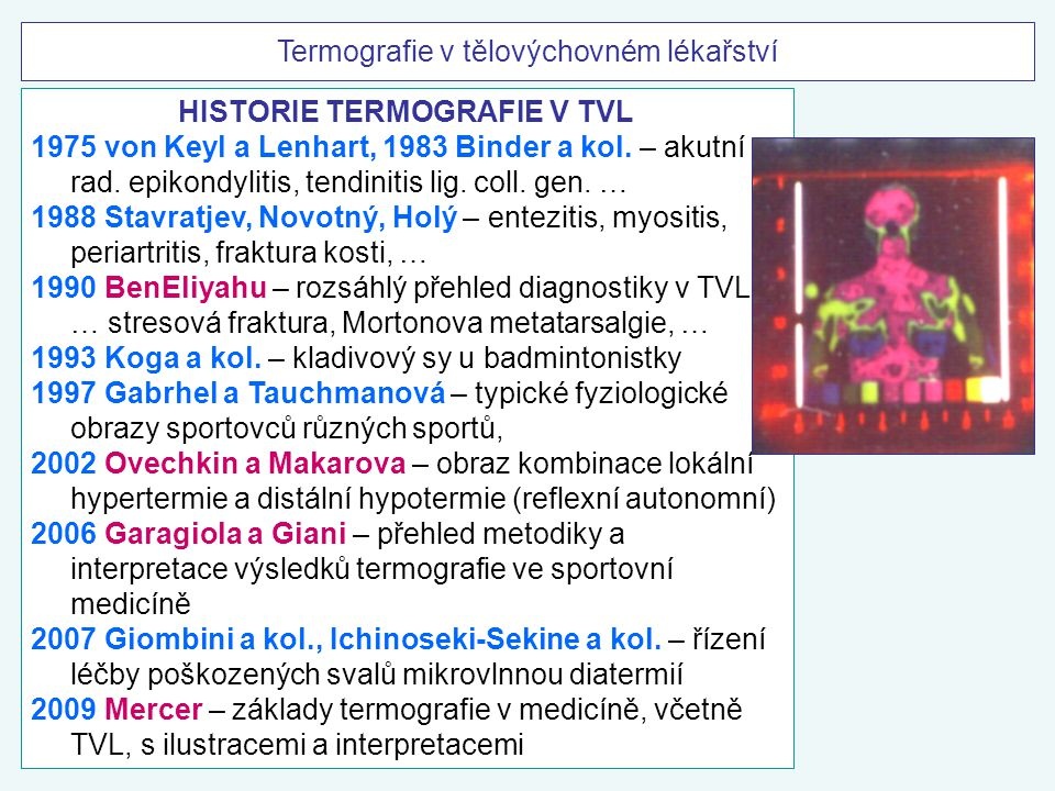 HISTORIE TERMOGRAFIE V TVL