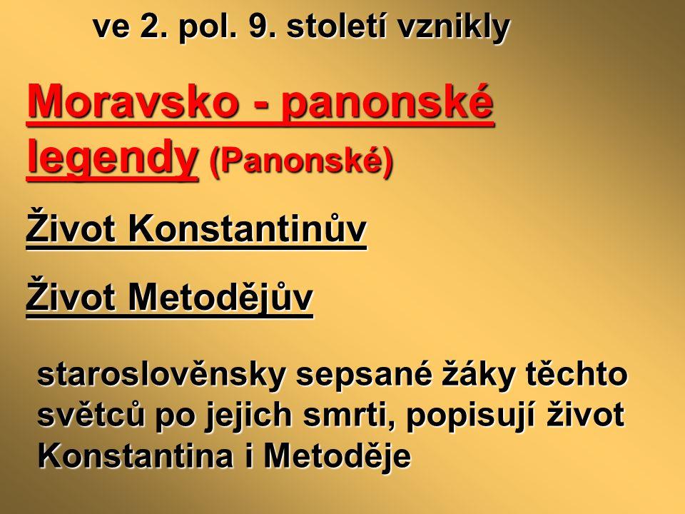 Moravsko - panonské legendy (Panonské)