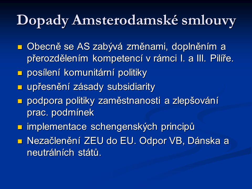 Dopady Amsterodamské smlouvy