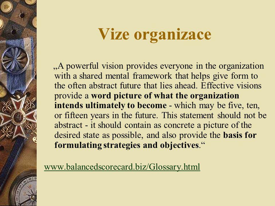 Vize organizace
