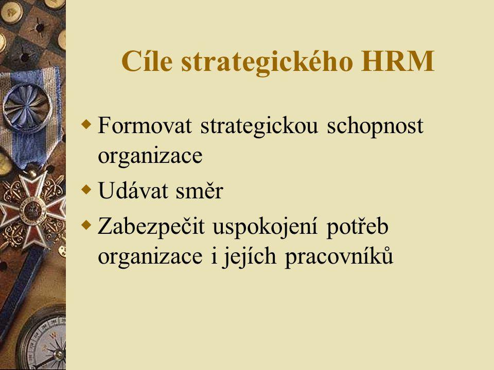 Cíle strategického HRM