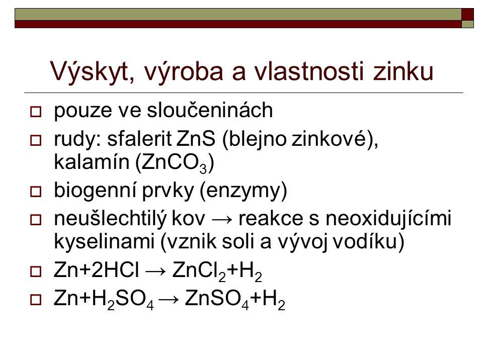 Výskyt, výroba a vlastnosti zinku