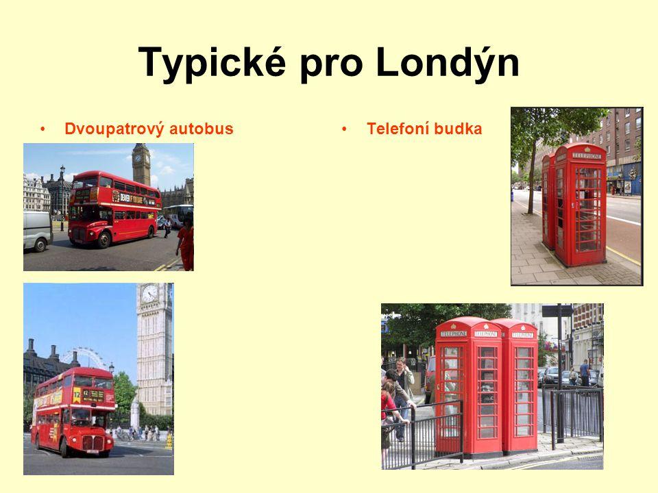 Typické pro Londýn Dvoupatrový autobus Telefoní budka