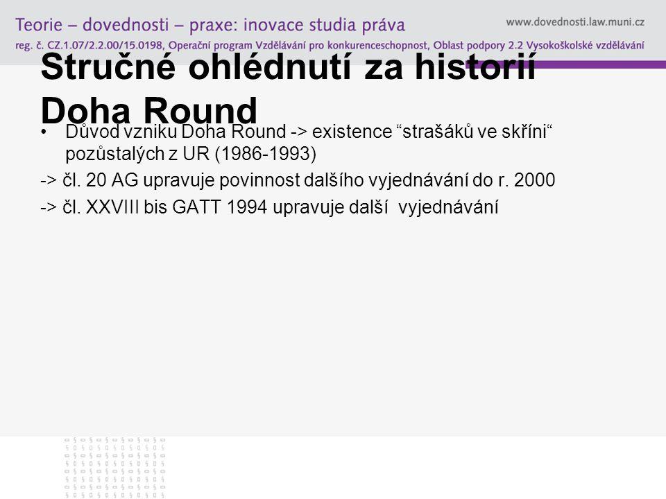 Stručné ohlédnutí za historií Doha Round