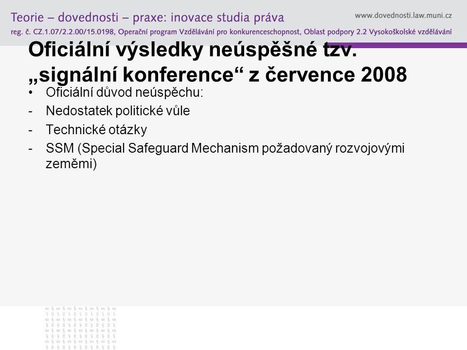 """Oficiální výsledky neúspěšné tzv. """"signální konference z července 2008"""