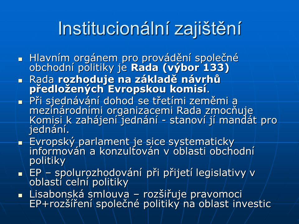 Institucionální zajištění