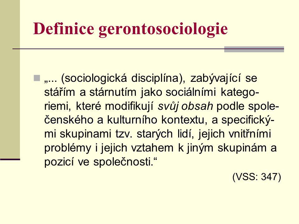 Definice gerontosociologie