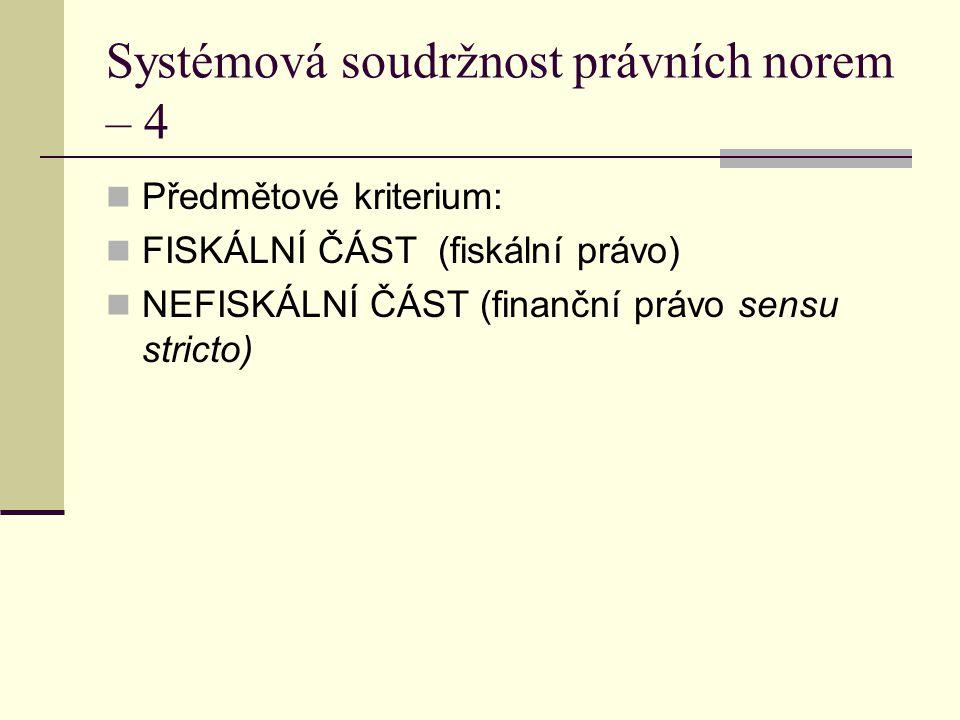 Systémová soudržnost právních norem – 4