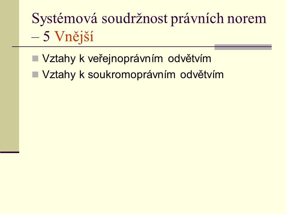 Systémová soudržnost právních norem – 5 Vnější