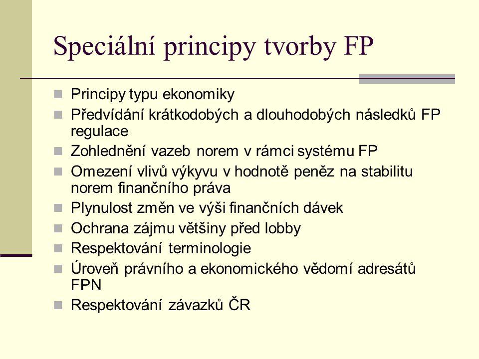 Speciální principy tvorby FP