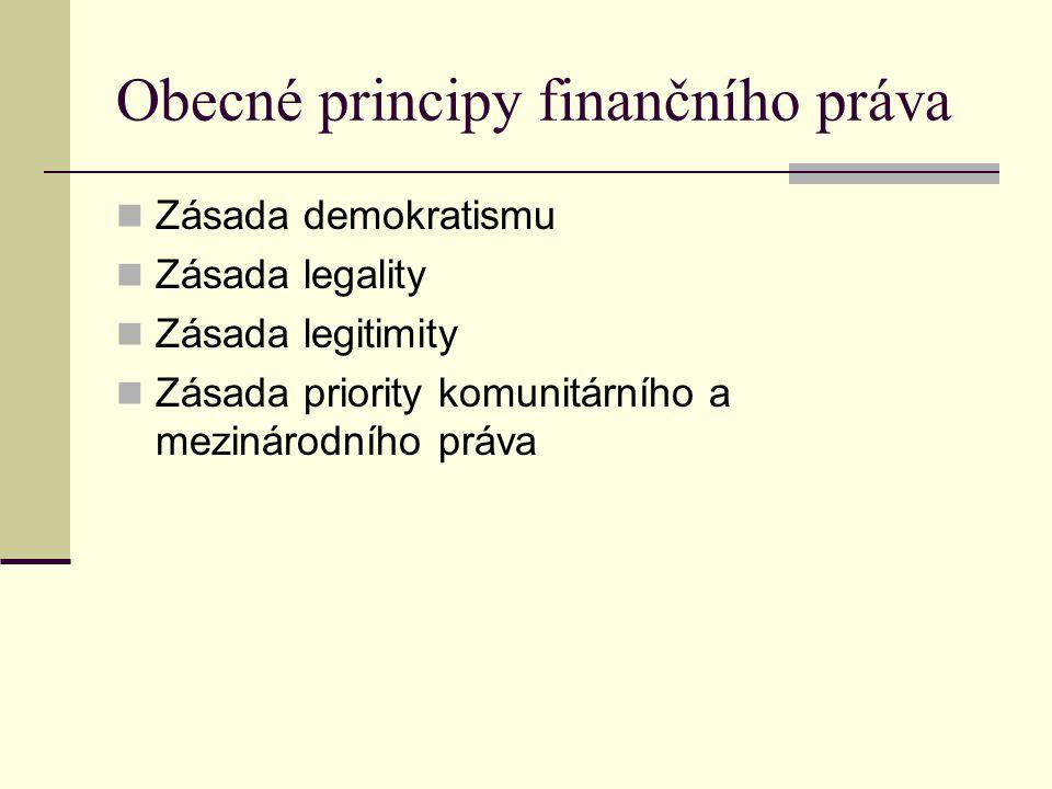 Obecné principy finančního práva