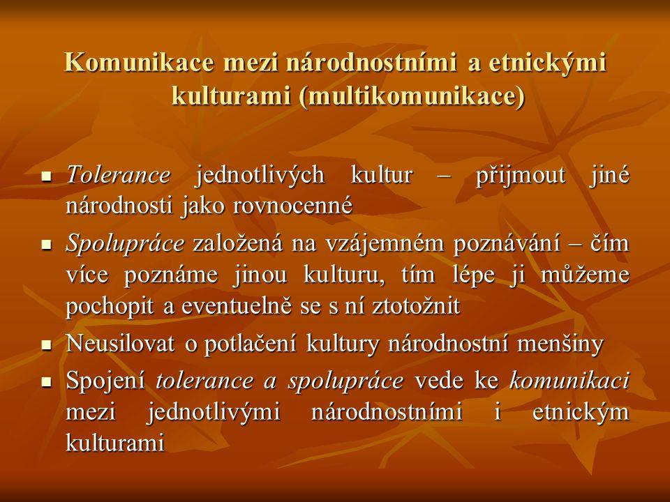 Komunikace mezi národnostními a etnickými kulturami (multikomunikace)