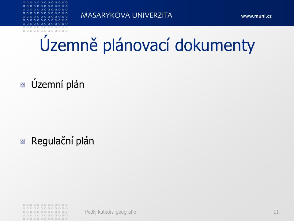 Územně plánovací dokumenty