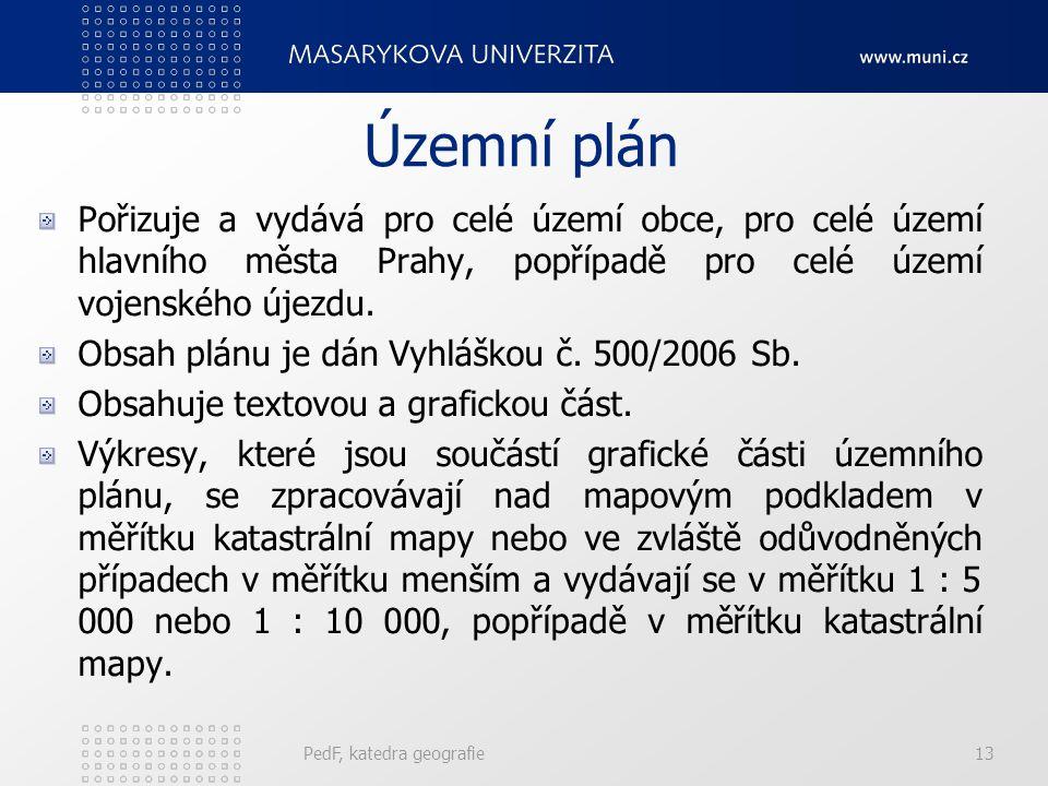 Územní plán Pořizuje a vydává pro celé území obce, pro celé území hlavního města Prahy, popřípadě pro celé území vojenského újezdu.