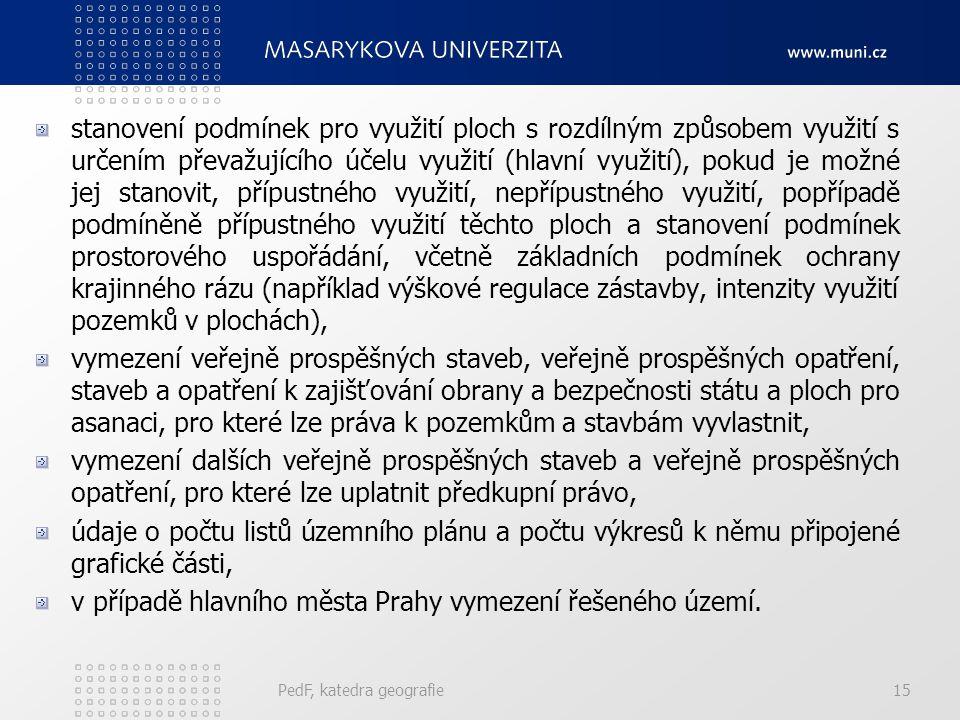 v případě hlavního města Prahy vymezení řešeného území.