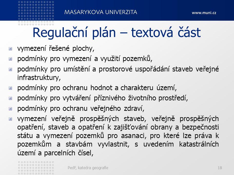 Regulační plán – textová část