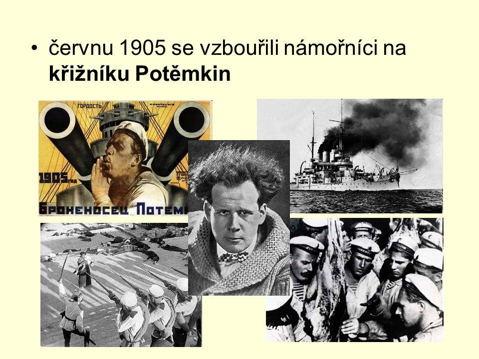 červnu 1905 se vzbouřili námořníci na křižníku Potěmkin