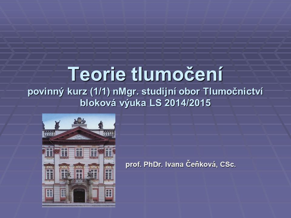 prof. PhDr. Ivana Čeňková, CSc.