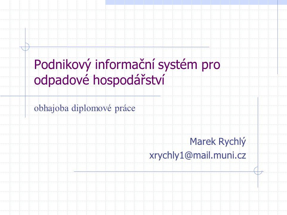 Podnikový informační systém pro odpadové hospodářství