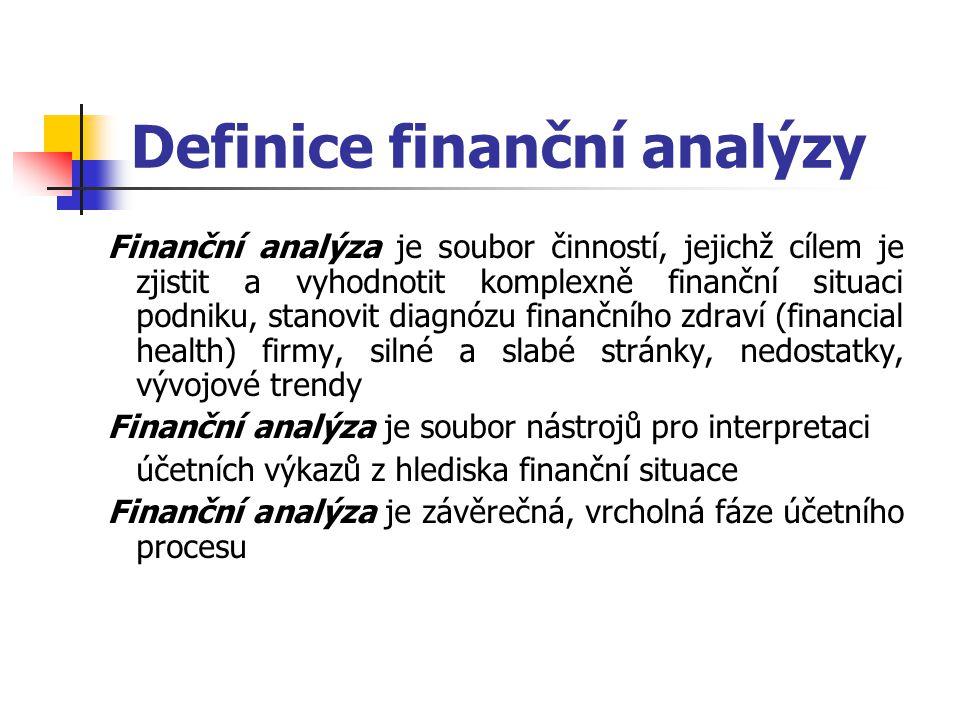 Definice finanční analýzy