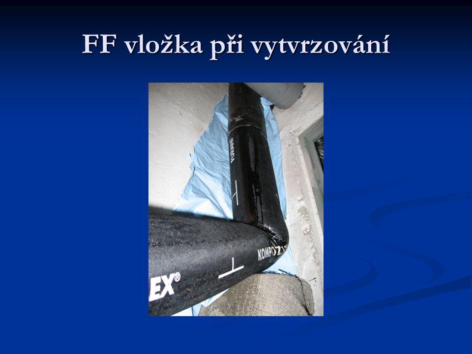 FF vložka při vytvrzování
