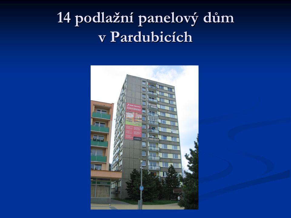 14 podlažní panelový dům v Pardubicích
