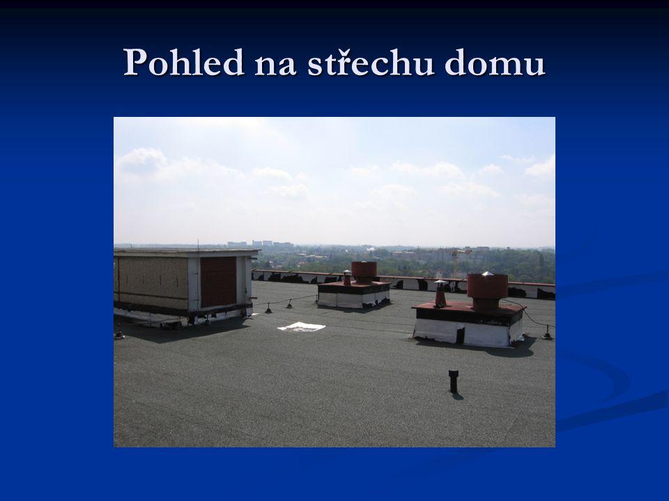 Pohled na střechu domu