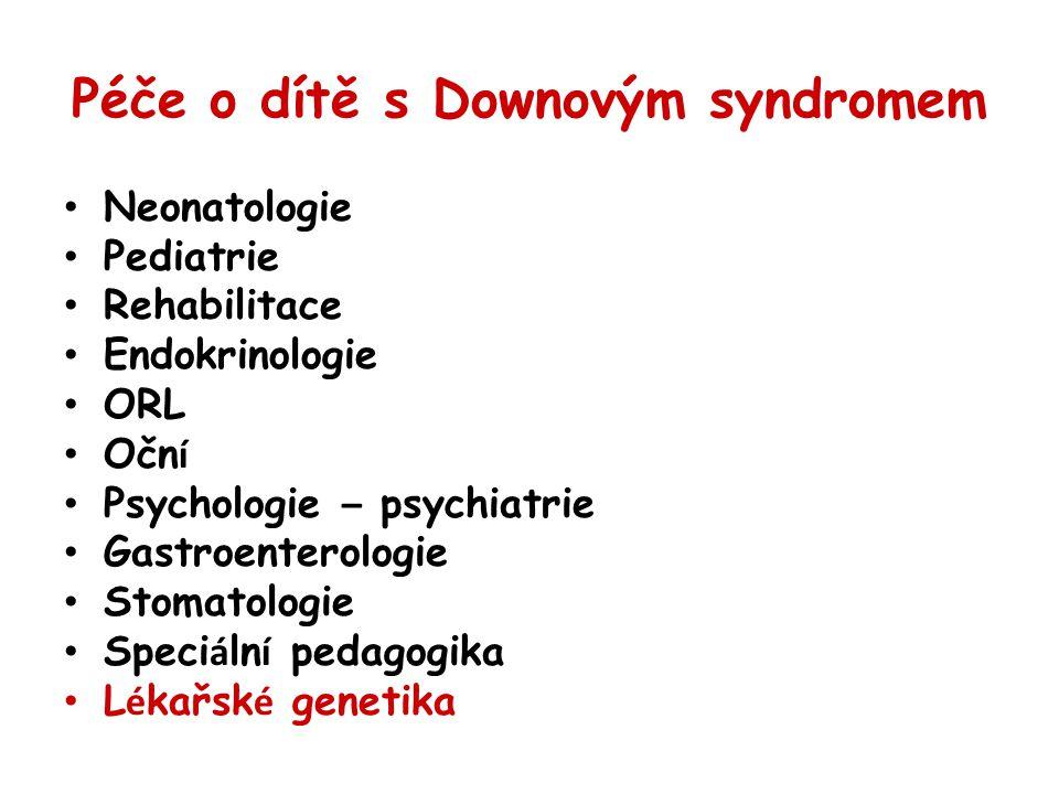 Péče o dítě s Downovým syndromem