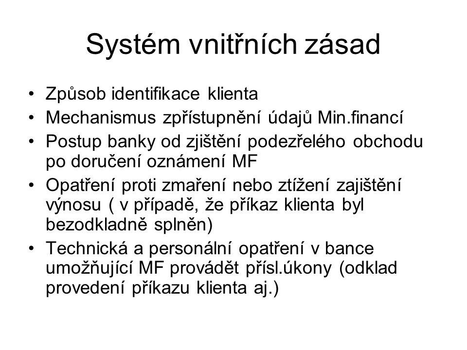 Systém vnitřních zásad