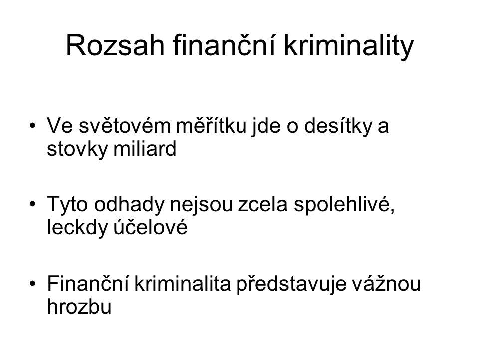 Rozsah finanční kriminality