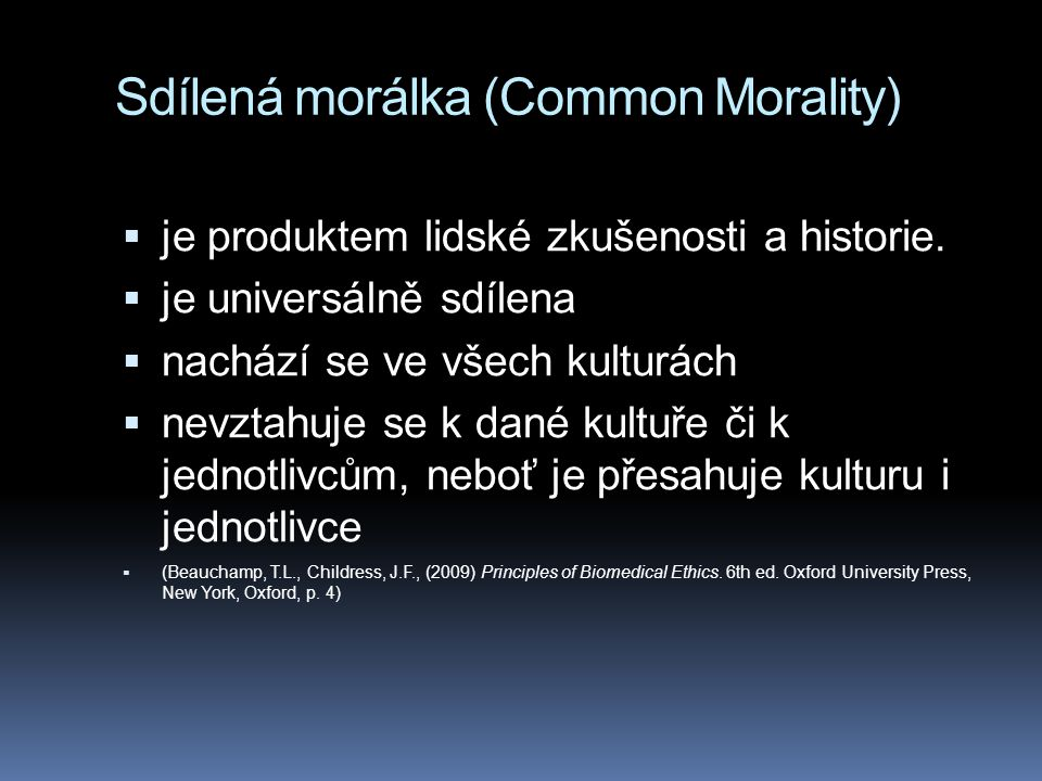Sdílená morálka (Common Morality)