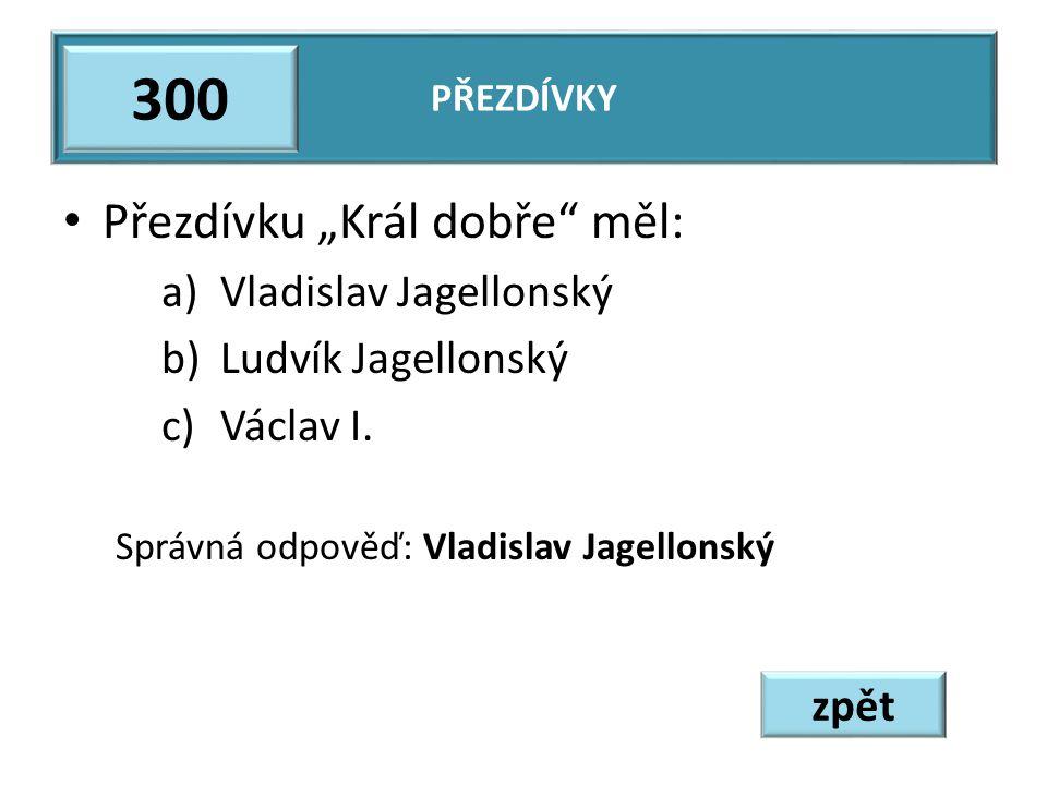 """300 Přezdívku """"Král dobře měl: Vladislav Jagellonský"""
