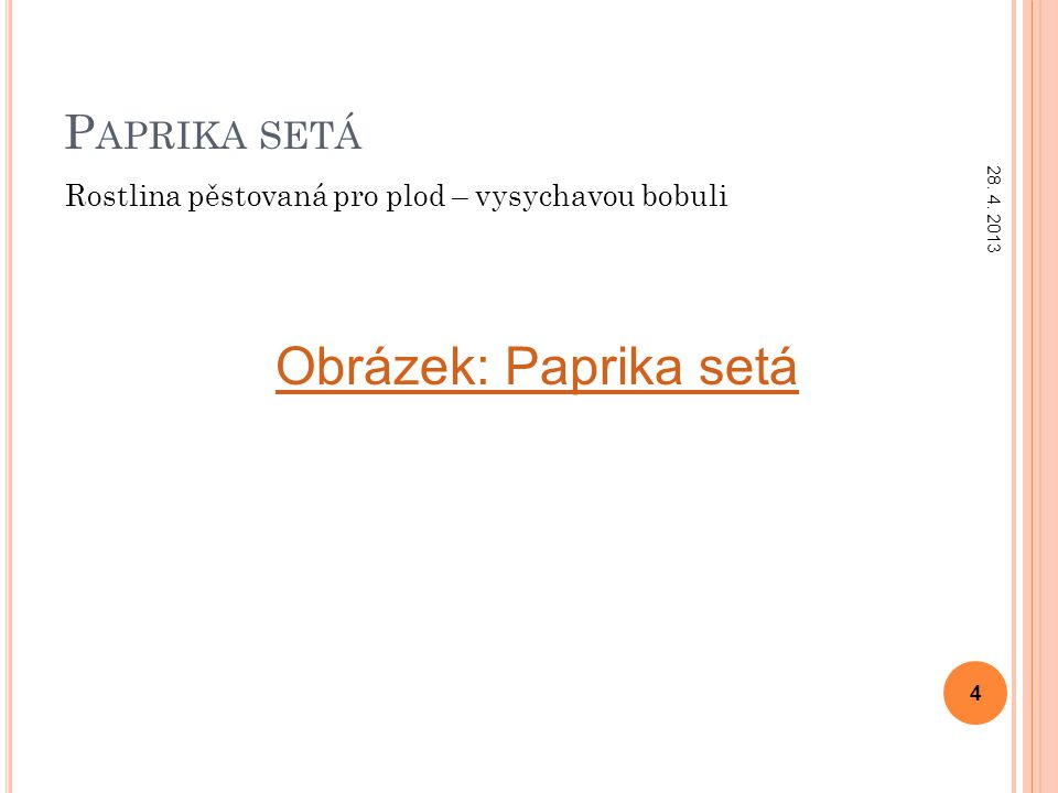 Obrázek: Paprika setá Paprika setá